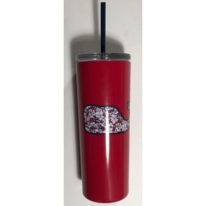 NWT Vineyard Vines portable lidded cup. Red.